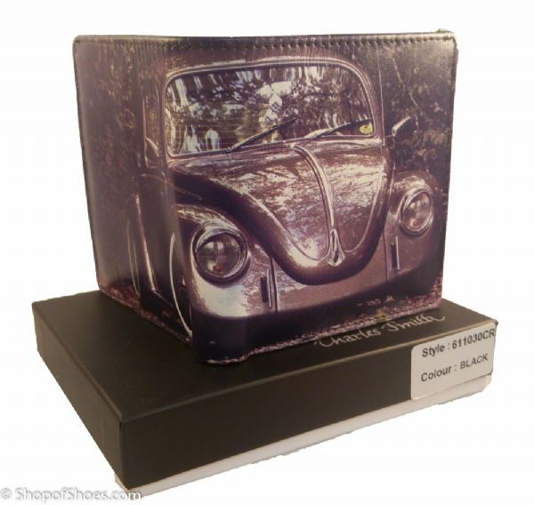 Mens volkswagen beetle and Camper van leather wallet.